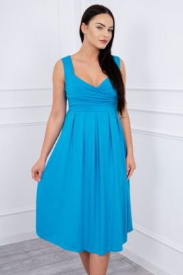 Imagine Dress with wide straps turquoise