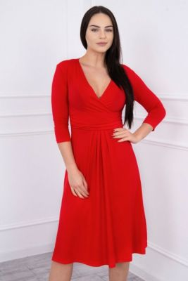 Imagine Dress with cut-off under the bust, 3/4 sleeves red