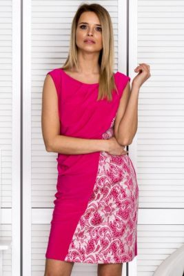Imagine Pink cocktail dress with flowing front