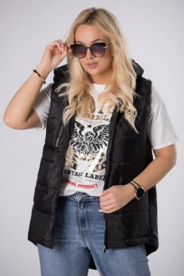 Imagine quilted vest with a decorative zipper on the hood