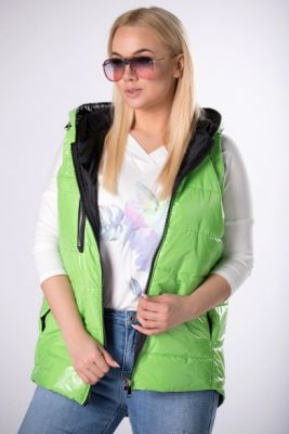 Imagine quilted vest with a zipper on the hood