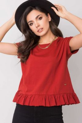 Imagine YOU DON´T KNOW ME Chestnut blouse with a frill